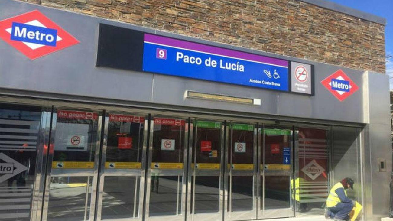 Abre La Estacion De Metro De Paco De Lucia Y Completa La Linea 9 A