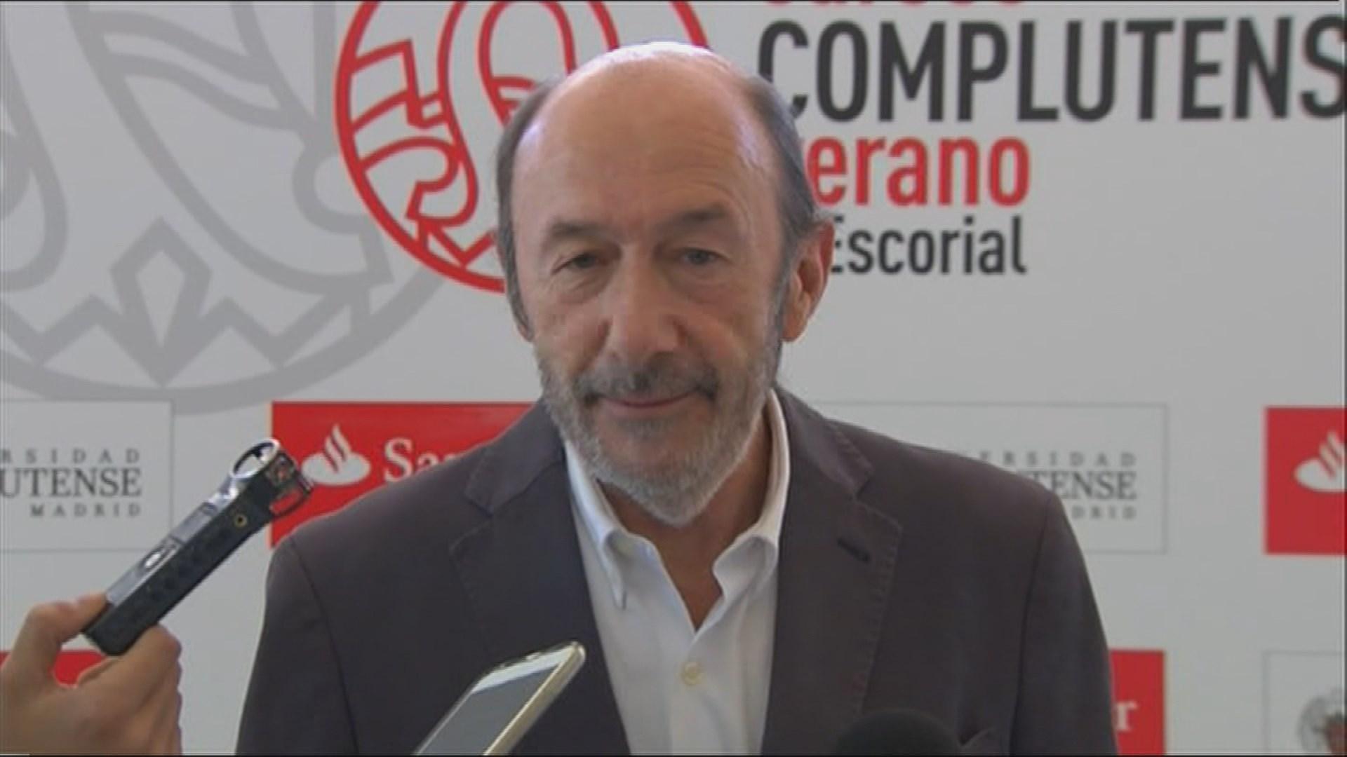Tristeza Y Preocupación Por Pérez Rubalcaba En La Facultad