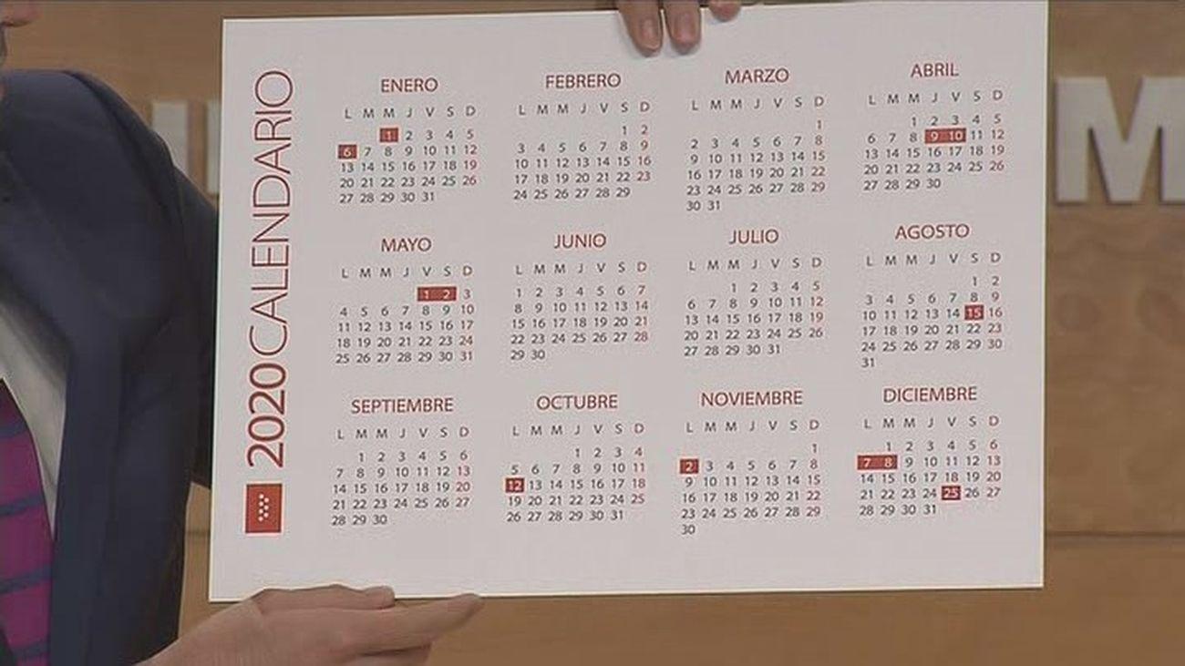 2020 Calendario Laboral.Calendario Laboral En Madrid Estos Son Los Festivos En 2020