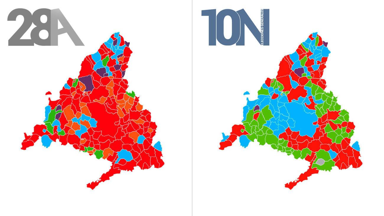 Municipios De Madrid Mapa.El Mapa De Las Elecciones Del 10n En Madrid