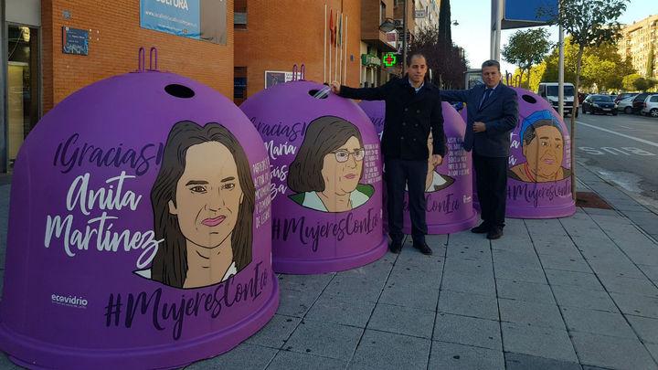 Veinte mujeres destacadas aparecerán en los contenedores de reciclaje en Leganés