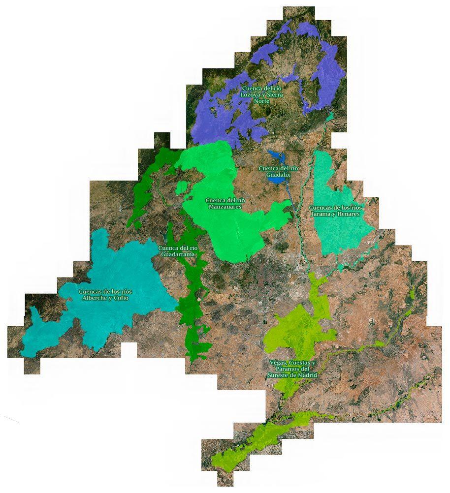 Áreas de la Comunidad de Madrid que forman parte de la Red Natura 2000 / Comunidad de Madrid